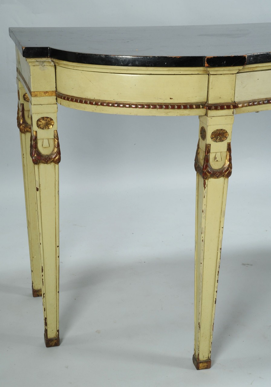 Lot 712: French Painted Serving Table w/  Urn Decoration
