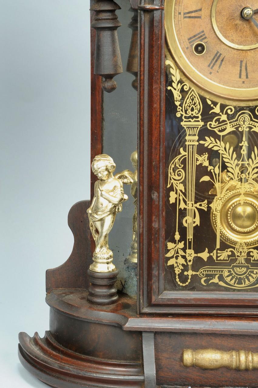 Lot 715: F. Kroeber  Mirror Side  Shelf Clock