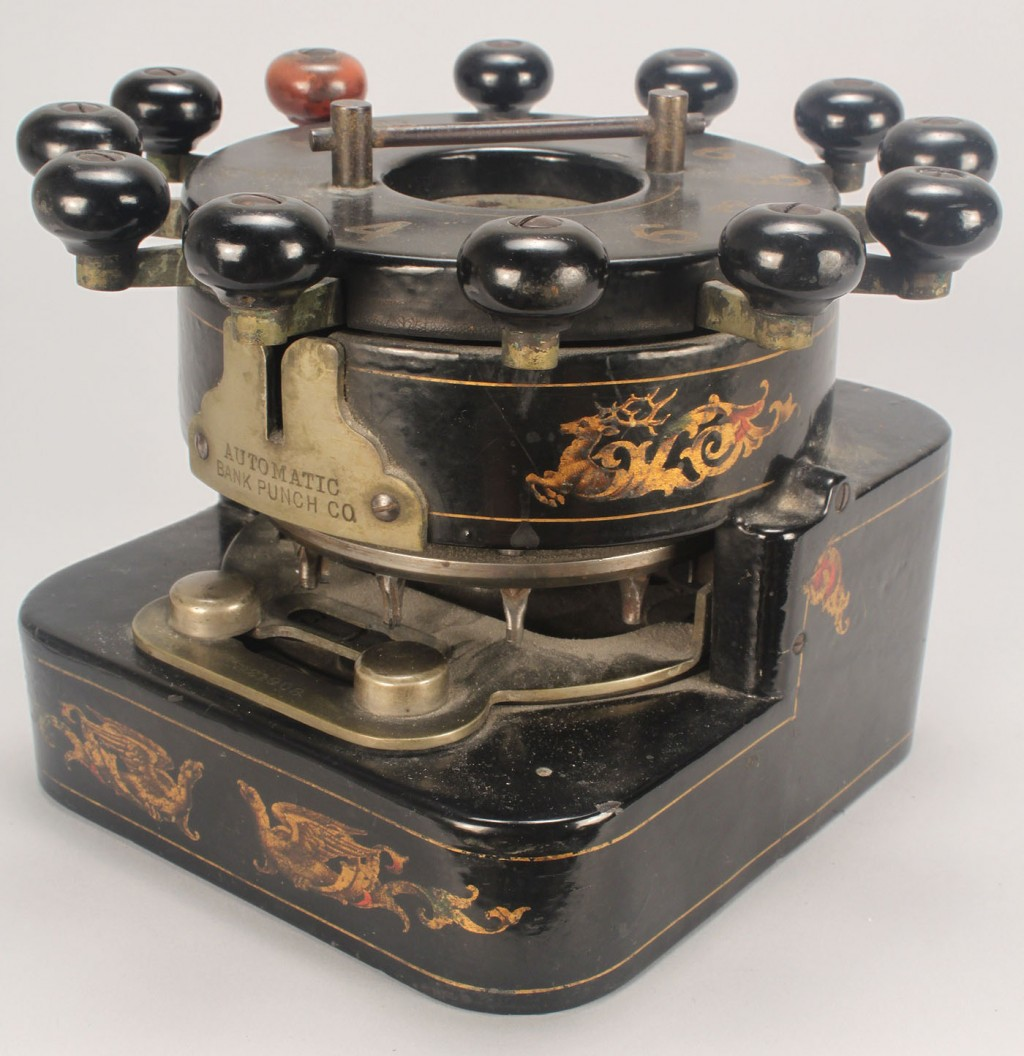 Lot 719: Automatic Bank Punch Co. Machine