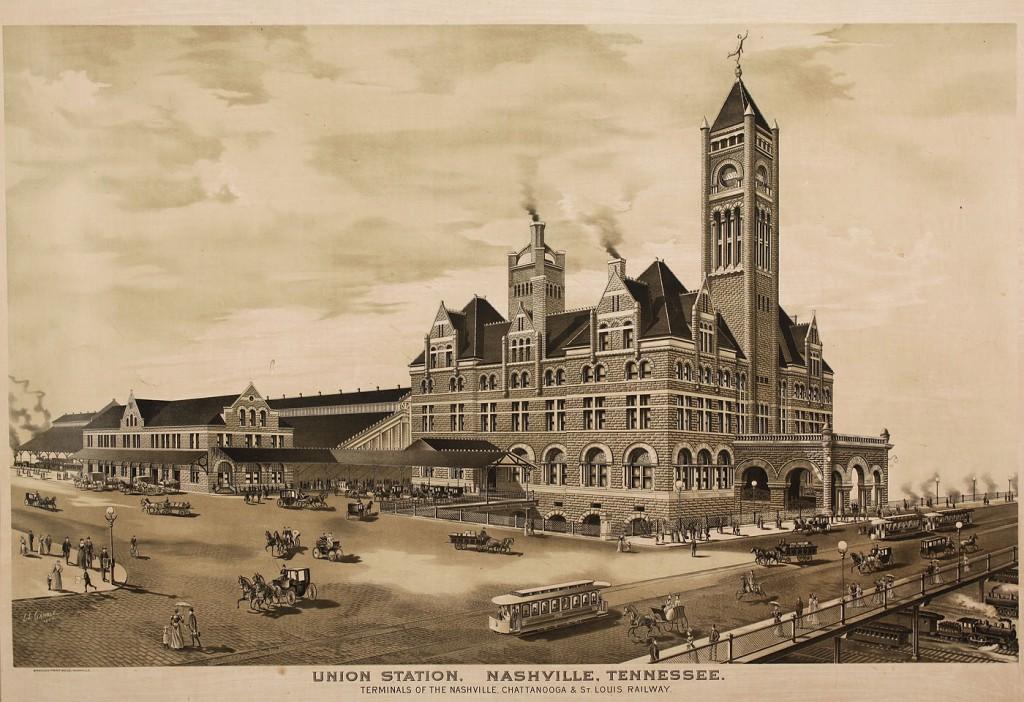 Lot 723: Nashville Union Station Lithograph