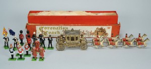 Lot 730: Mini Coronation Coach & Brittain's Toy Soldiers