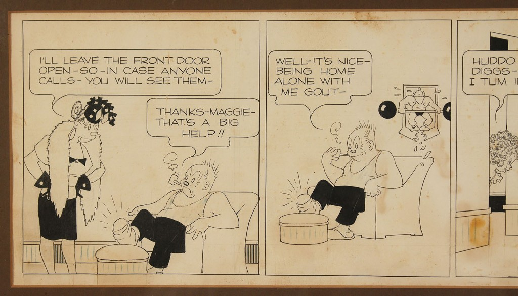 Lot 733: Framed George McManus Comic Strip