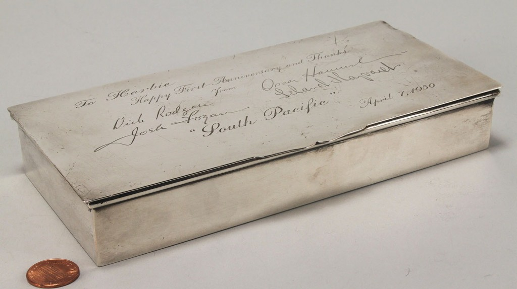 Lot 734: Sterling Box, Signed Rodgers, Hammerstein & More