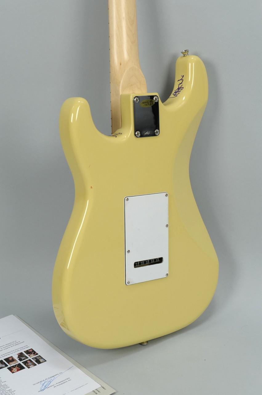 Lot 736: Filmore East Rock Legends Autographed Guitar