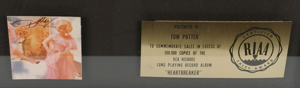 Lot 738: Dolly Parton Gold Record w/ Presentation Plaque