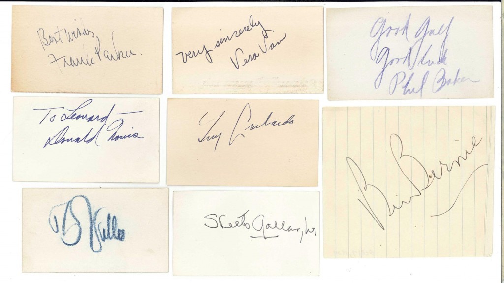 Lot 739: Lot of 8 Entertainment Autographs