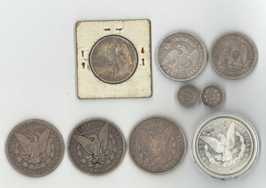 Lot 744: 19th and early 20th century  American silver coins