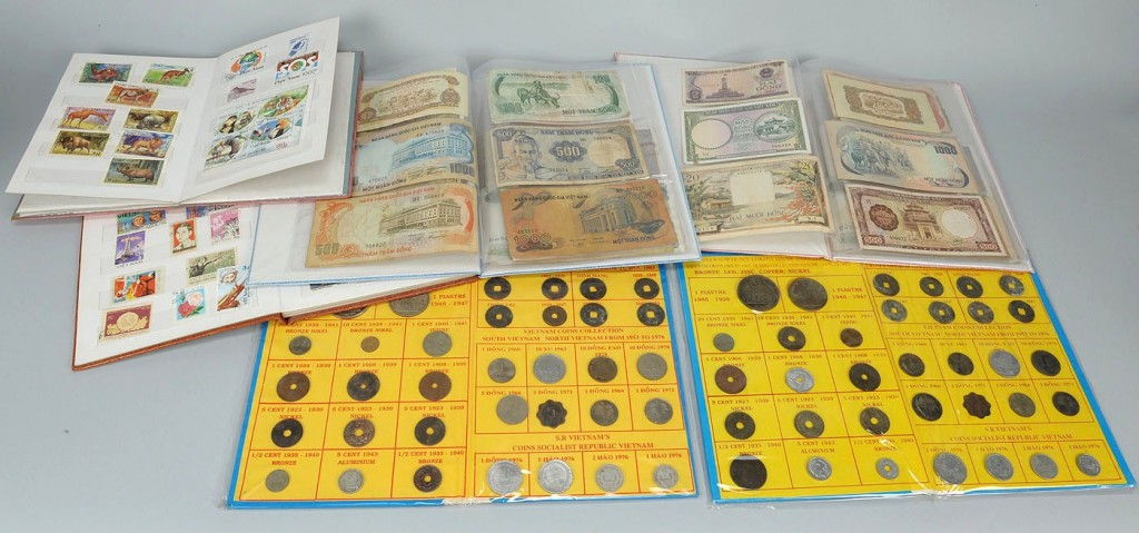 Lot 746: Vietnamese Currency & Stamp Collection