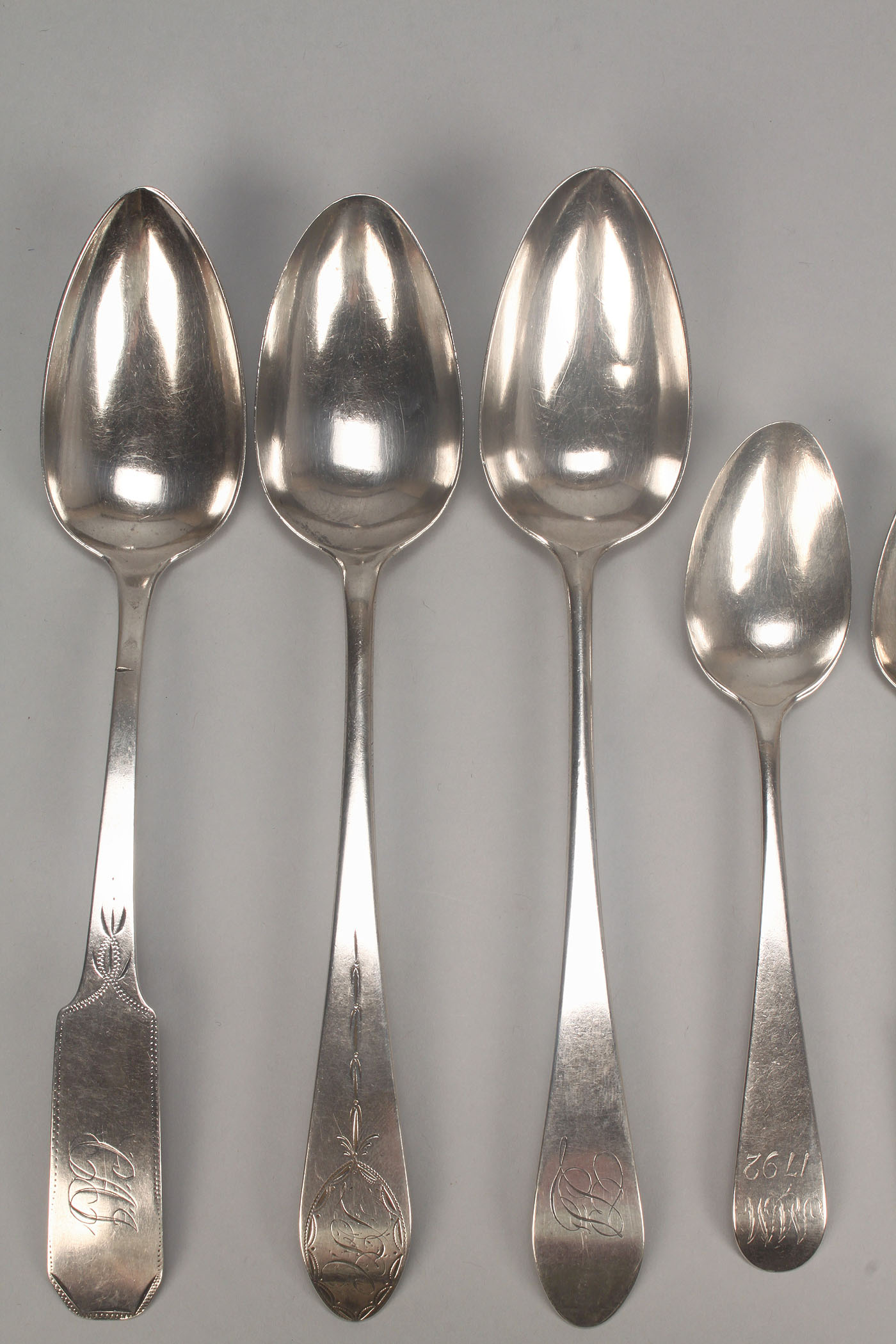 Lot 748 10 Federal Silver Spoons Incl Ny