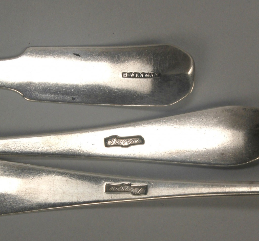 Lot 748: 10 Federal Silver Spoons, incl. NY