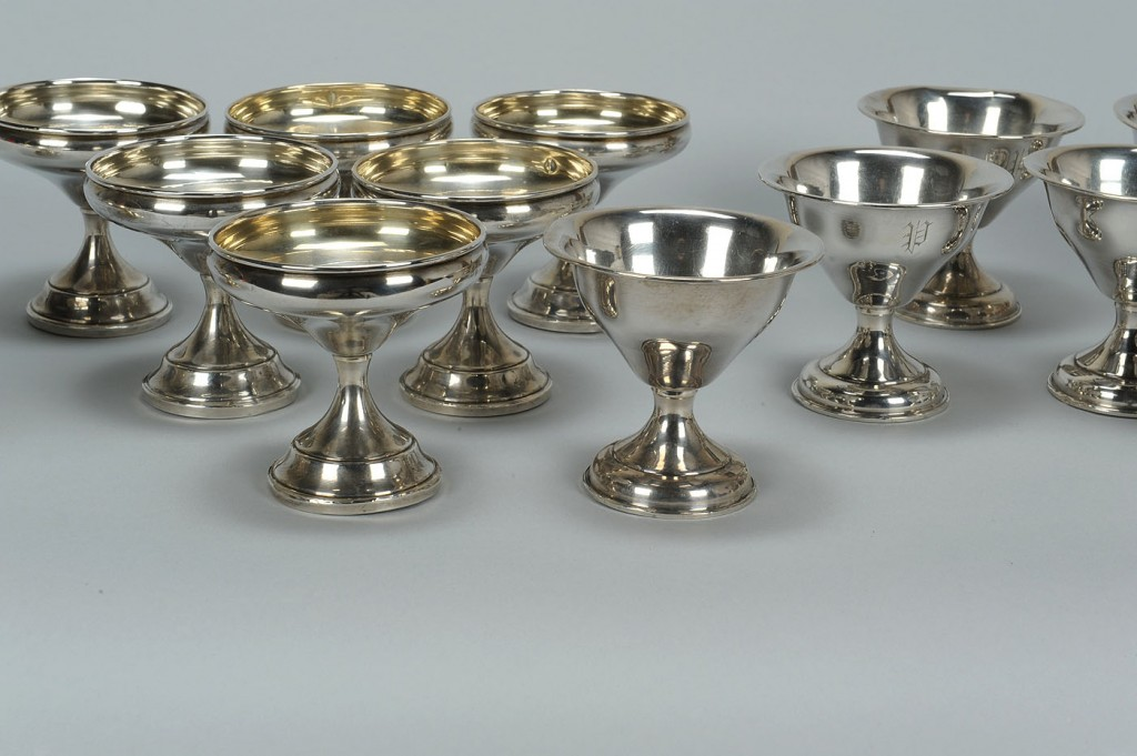 Lot 756: 14 Sterling Silver Sherbert Compotes