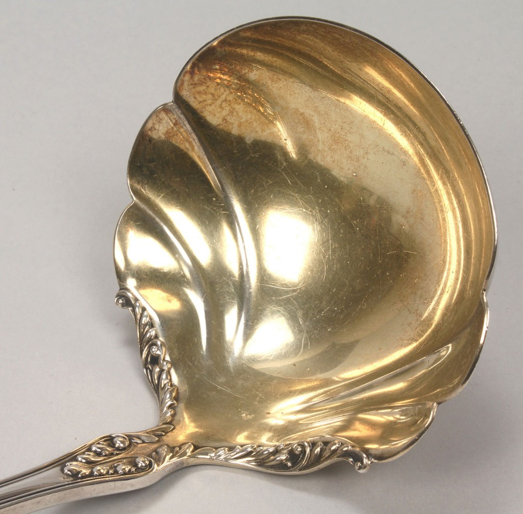 Lot 758: Gorham Sterling Punch or Soup Ladle