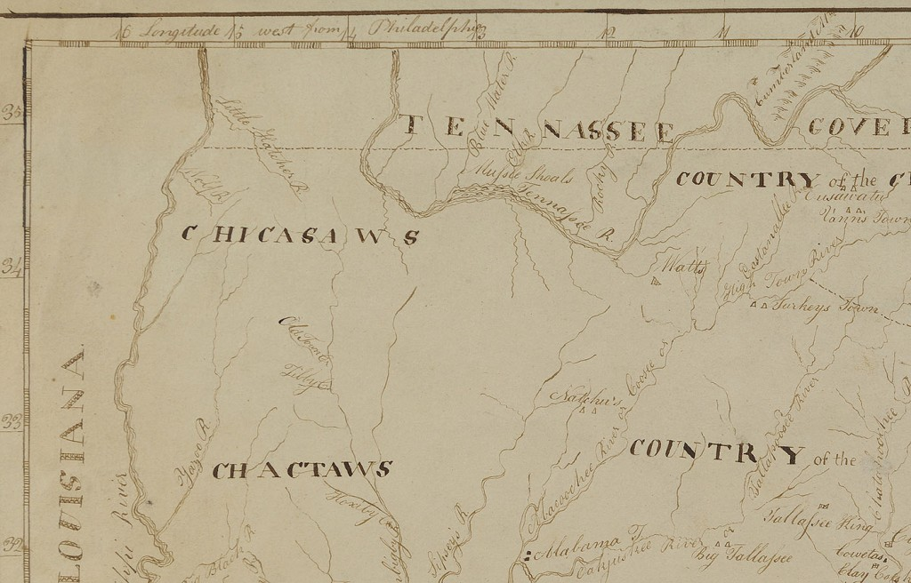 Lot 75: 1802 Hand drawn map of Georgia