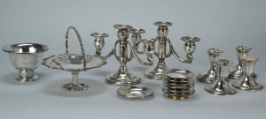 Lot 760: Group of Sterling & Silver Plate Items, incl Tiffa