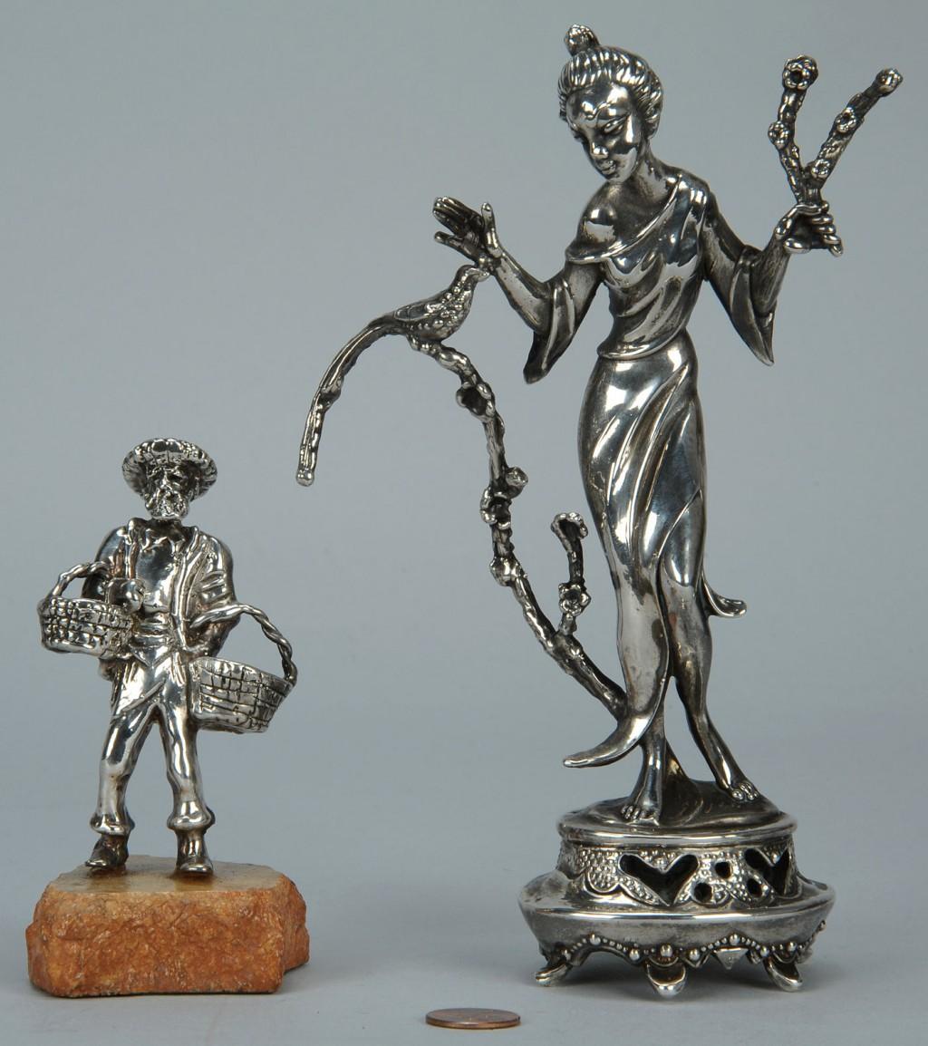 Lot 764: 2 Sterling Silver Clad Figurals, poss. Robert Isra