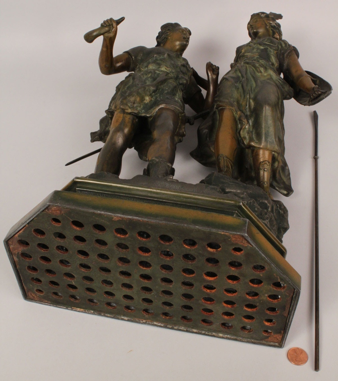 """Lot 768: Bronze sculpture, """"Siegfried and Brunehilde"""""""