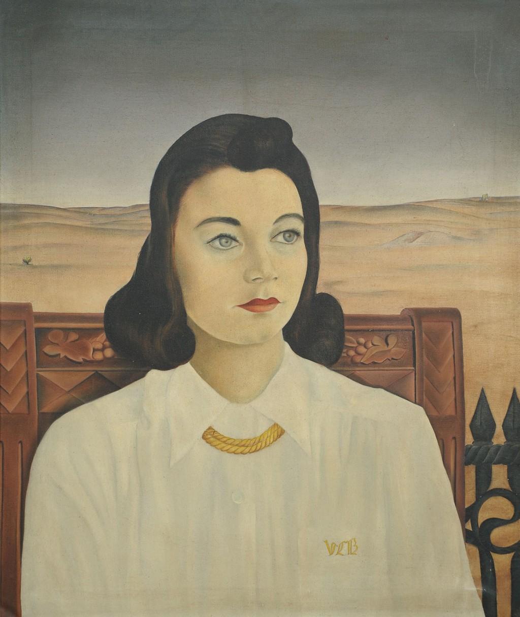 Lot 771: Jack Kershaw, portrait of Virginia Barrerre