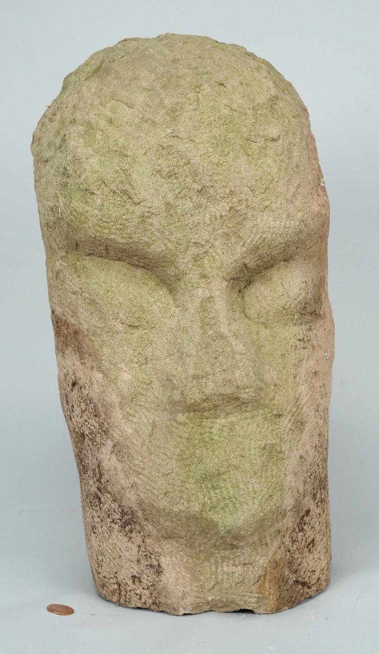 Lot 772: Carved Limestone Sculpture attr. Jack Kershaw