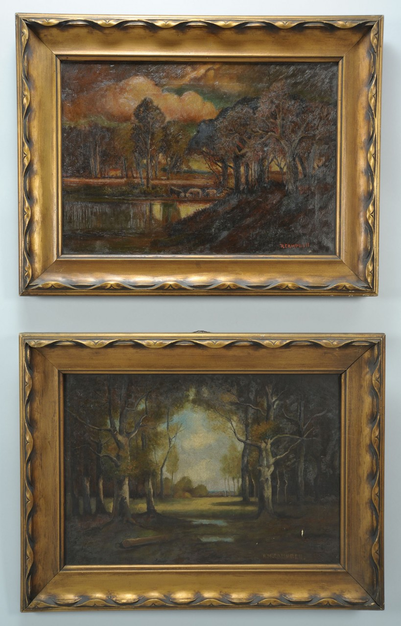 Lot 773: Pair R. M. Campbell Oil on Canvas Landscapes