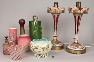 Lot 776: 8 Art Glass items incl. Rindskopf, Mt. Washington