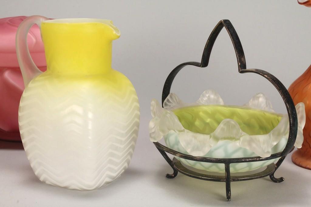 Lot 779: Group of 6 Satin Glass Items