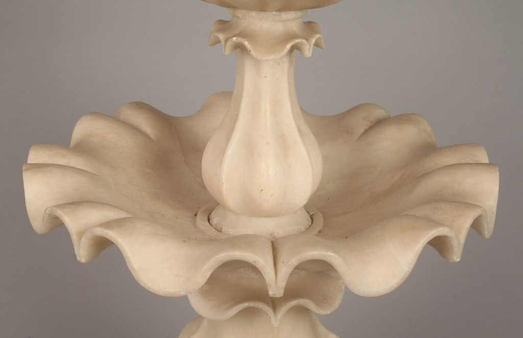Lot 787: Carved Alabaster Tiered Centerpiece