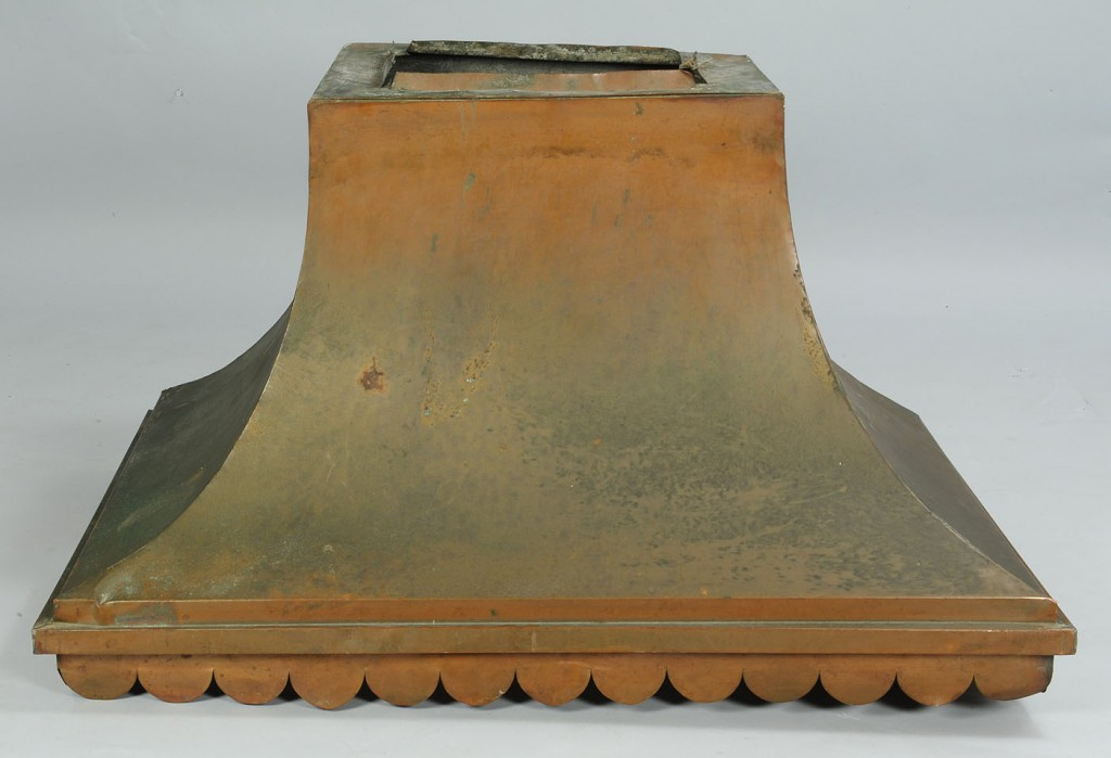 Lot 788: Large Copper Stove Hood with scalloped edge