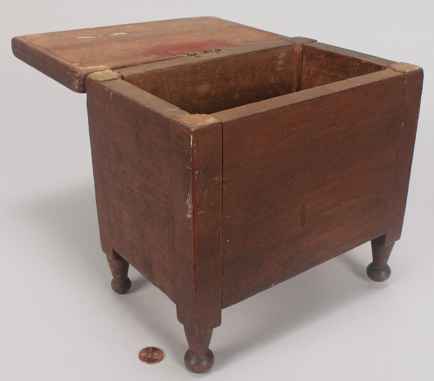 Lot 78 Miniature Southern Box Sugar Chest Form Orig Su