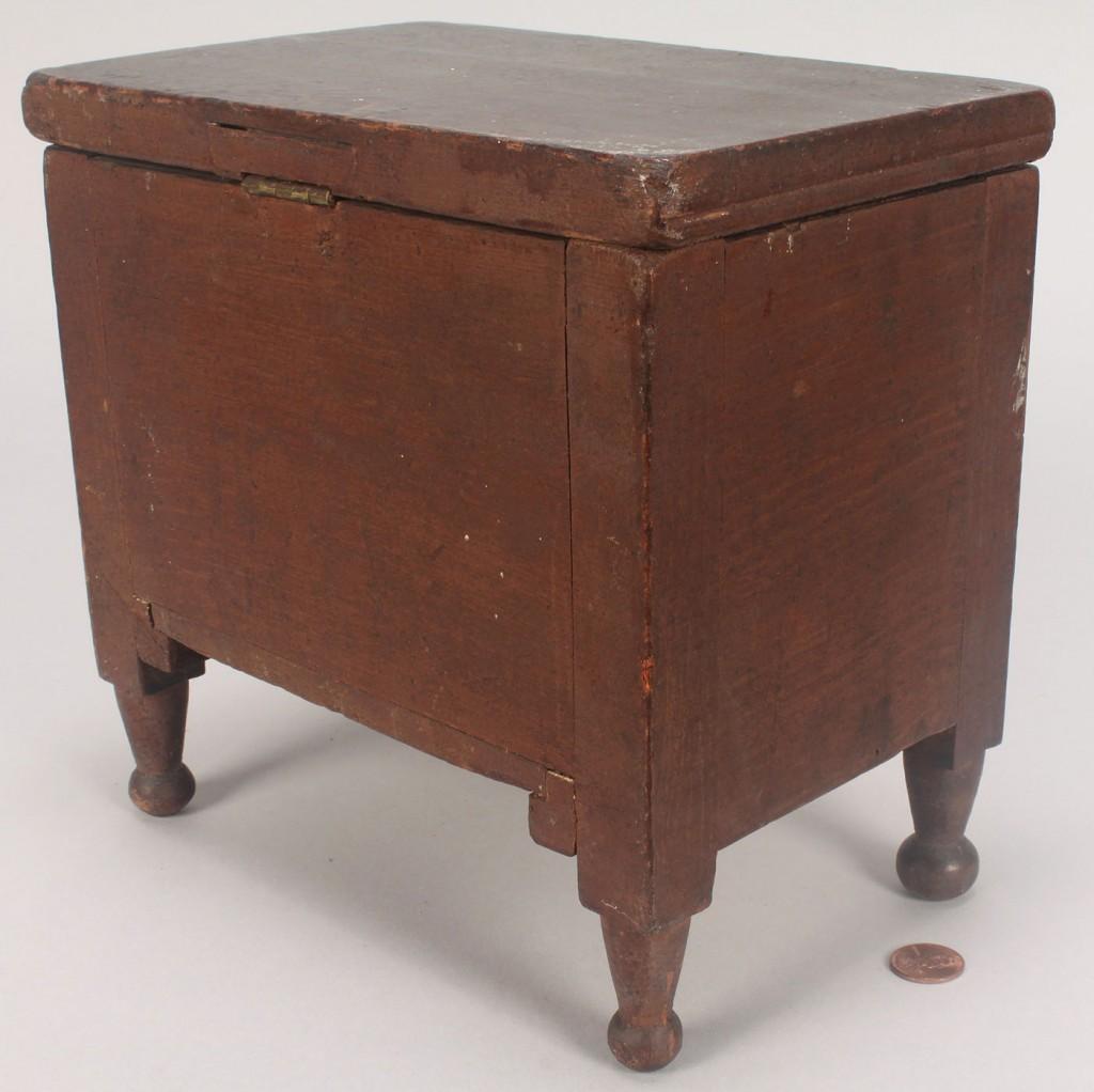 Lot 78: Miniature Southern box, sugar chest form, orig. su