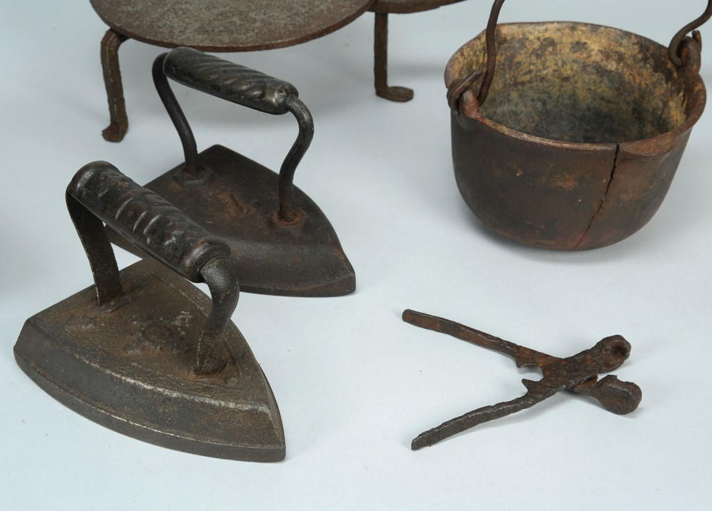 Lot 791: Group of 6 wrought-iron items, Williamson Co., TN