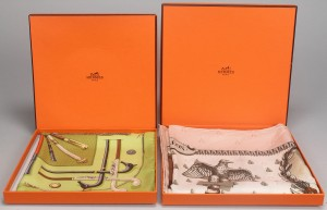 Lot 797: Hermes Scarf and Pocket Square