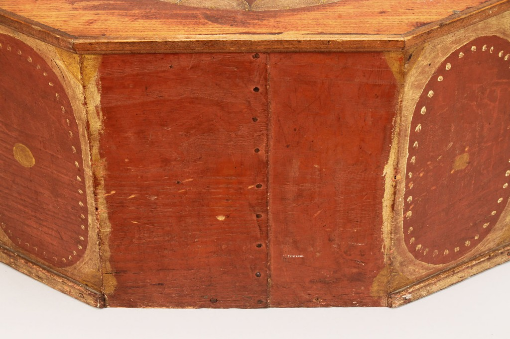 Lot 80: NC Painted Octagonal Hat Box, poss. Swisegood