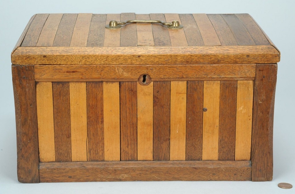 "Lot 86: East Tn Ballot Box w/ ""Election Greene"" Wax Seal"