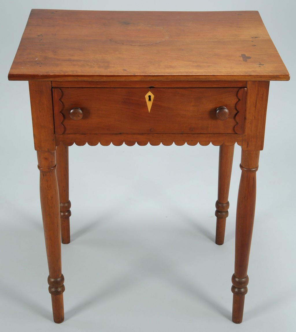 Lot 87: East TN Cherry Stand w/ Scalloped Skirt