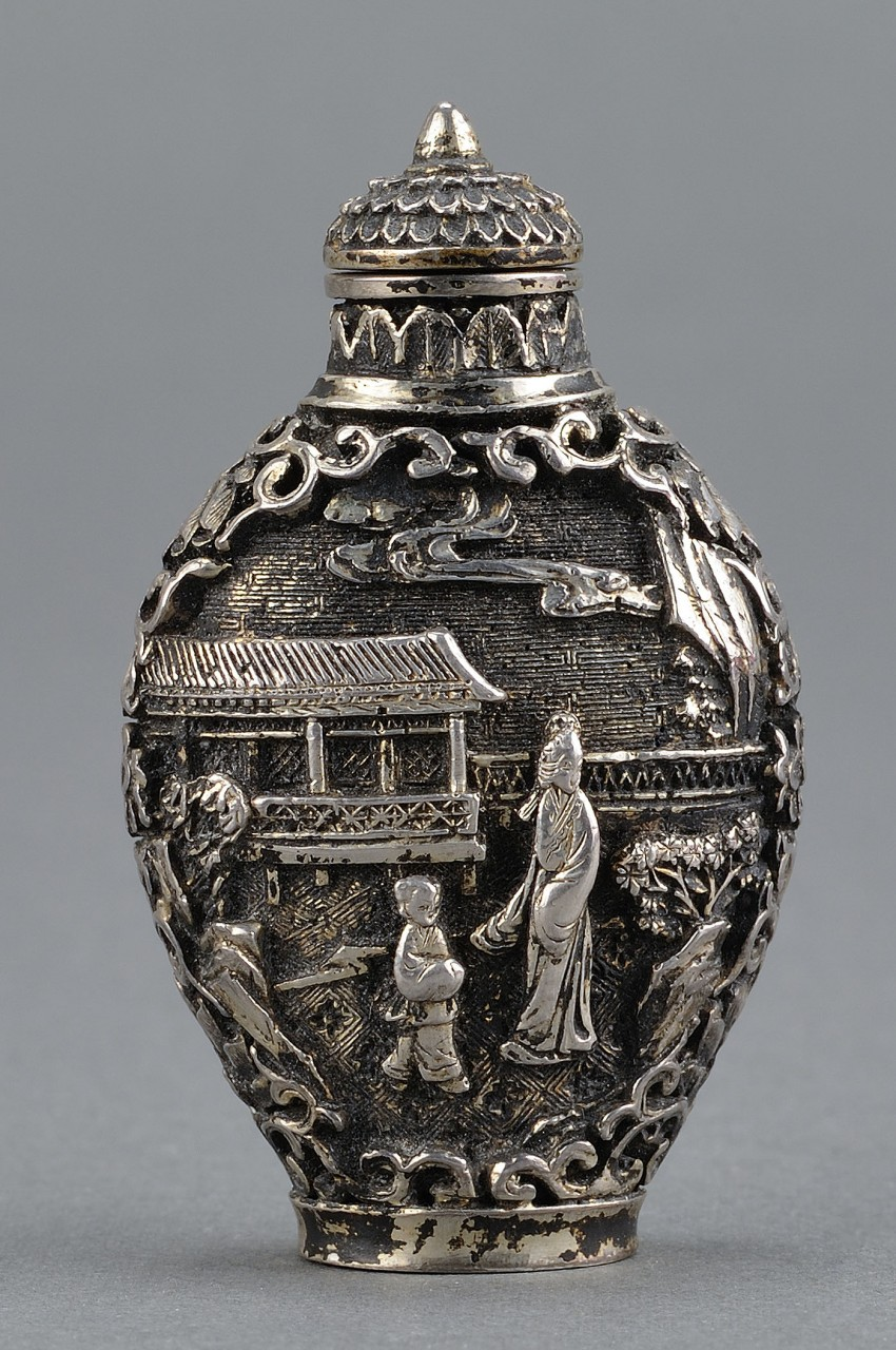 Lot 8: Chinese Silver Snuff Bottle