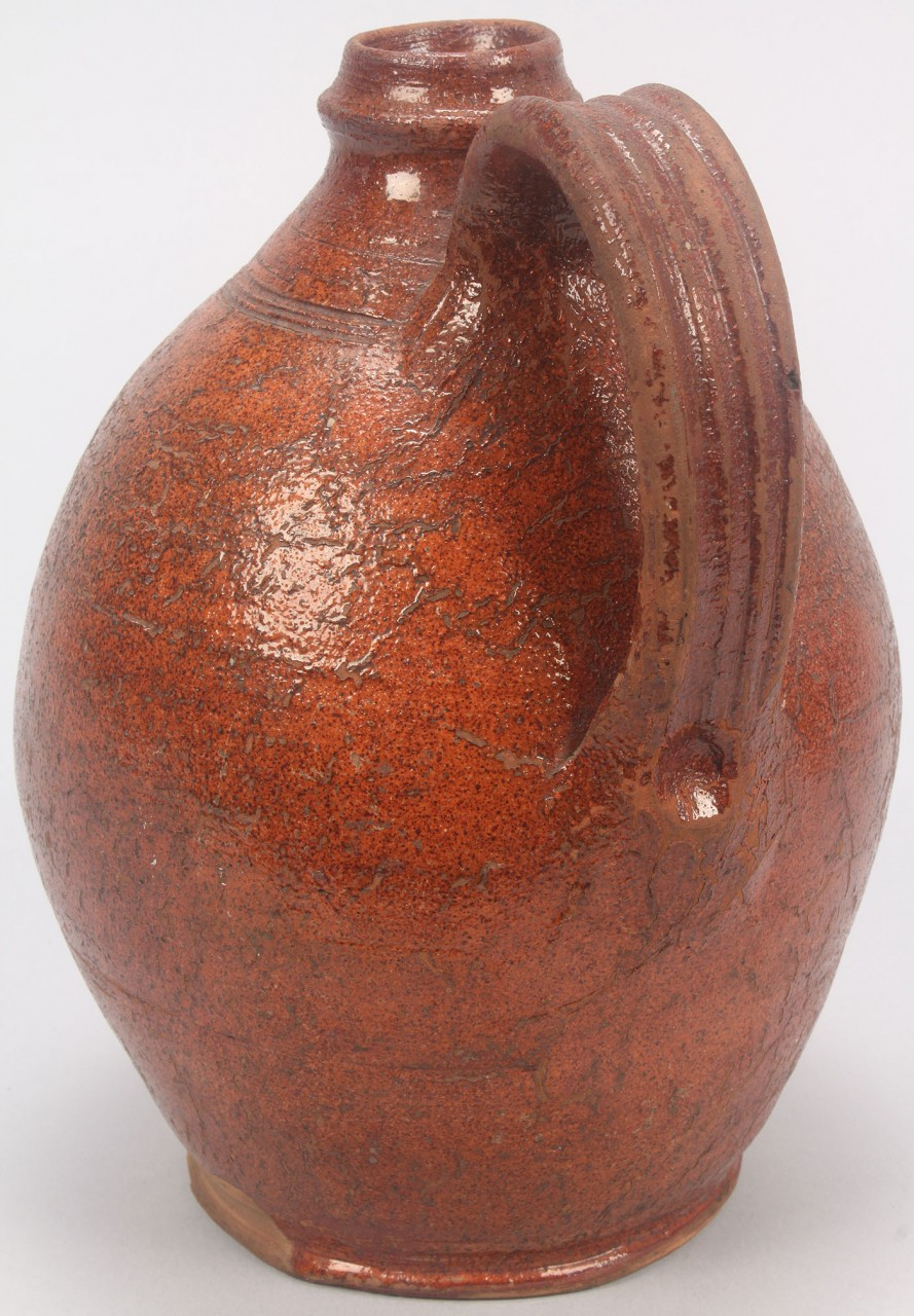 Lot 91: Sullivan Co TN Redware Jug. Attr. Cain