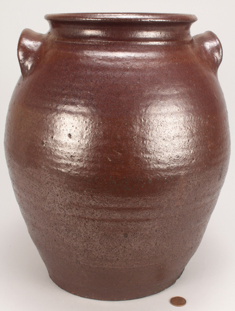 Lot 96: Large South Carolina  Alkaline Glazed Storage Jar