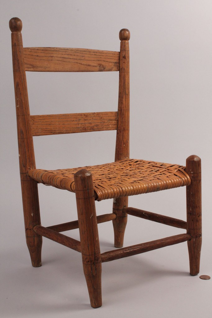 Lot 101: East TN ladderback chair & childs chair