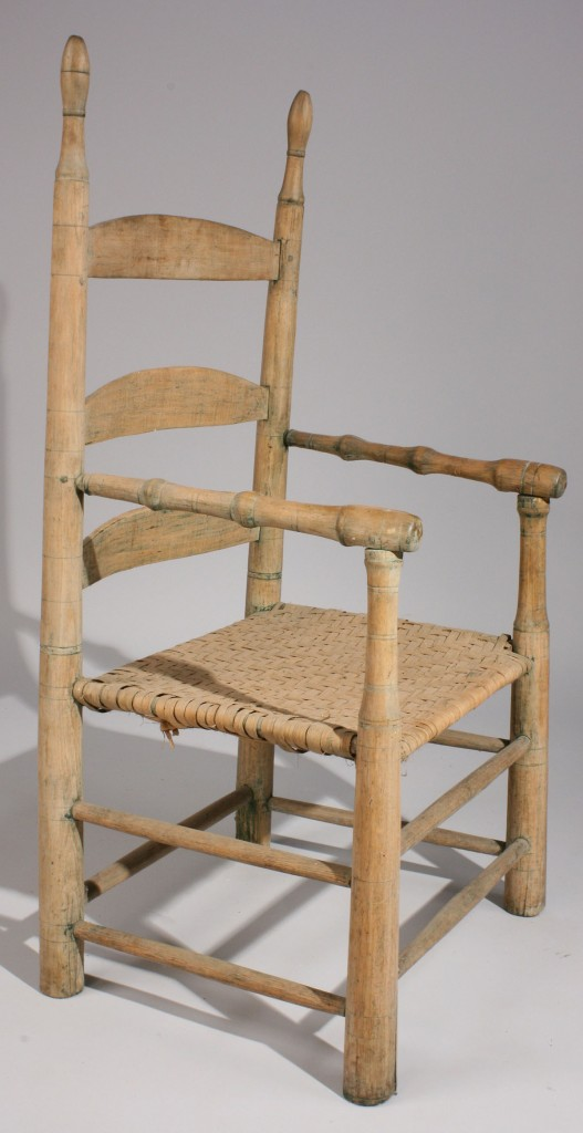 Lot 102: Hawkins Co., TN poplar armchair