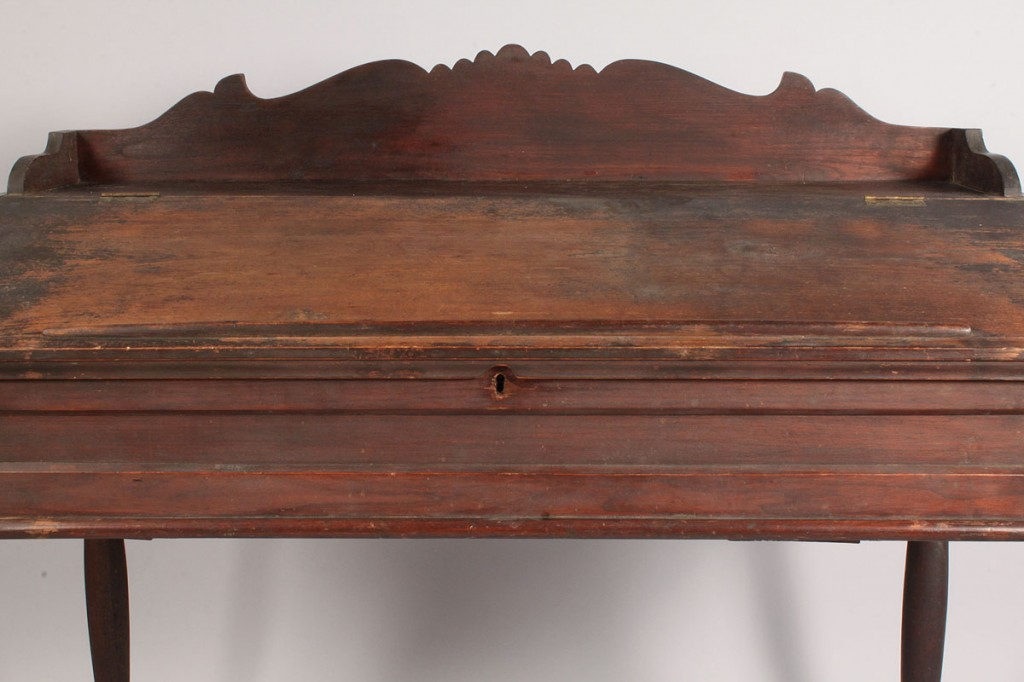 Lot 105: SW Virginia Sheraton style desk, old surface