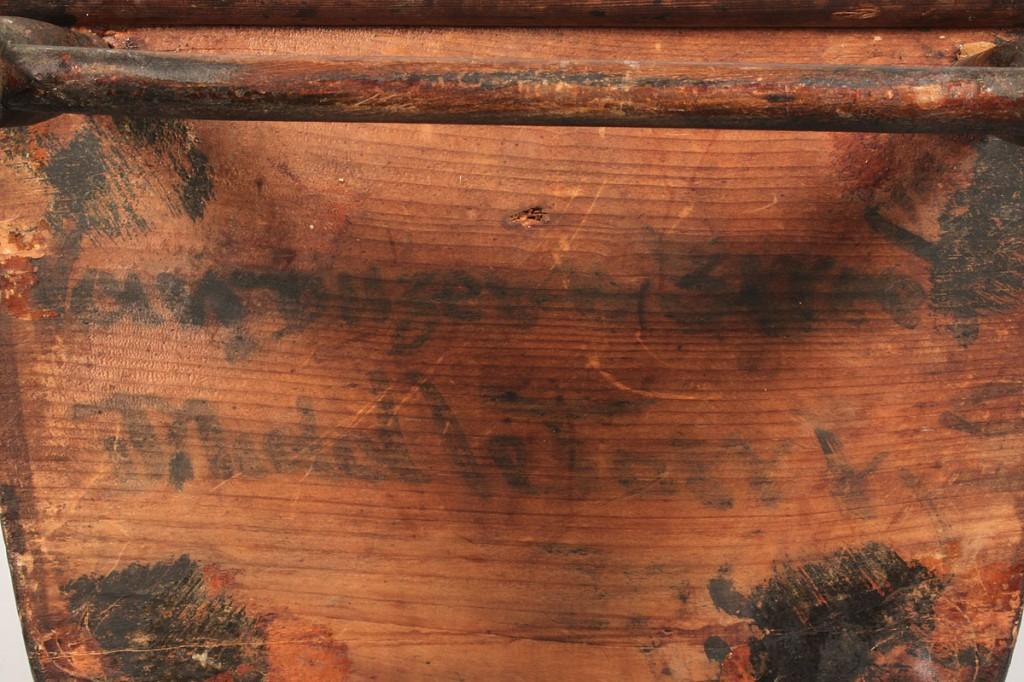 Lot 106: Southern Paint Stenciled Child's Rocker, Attr. VA