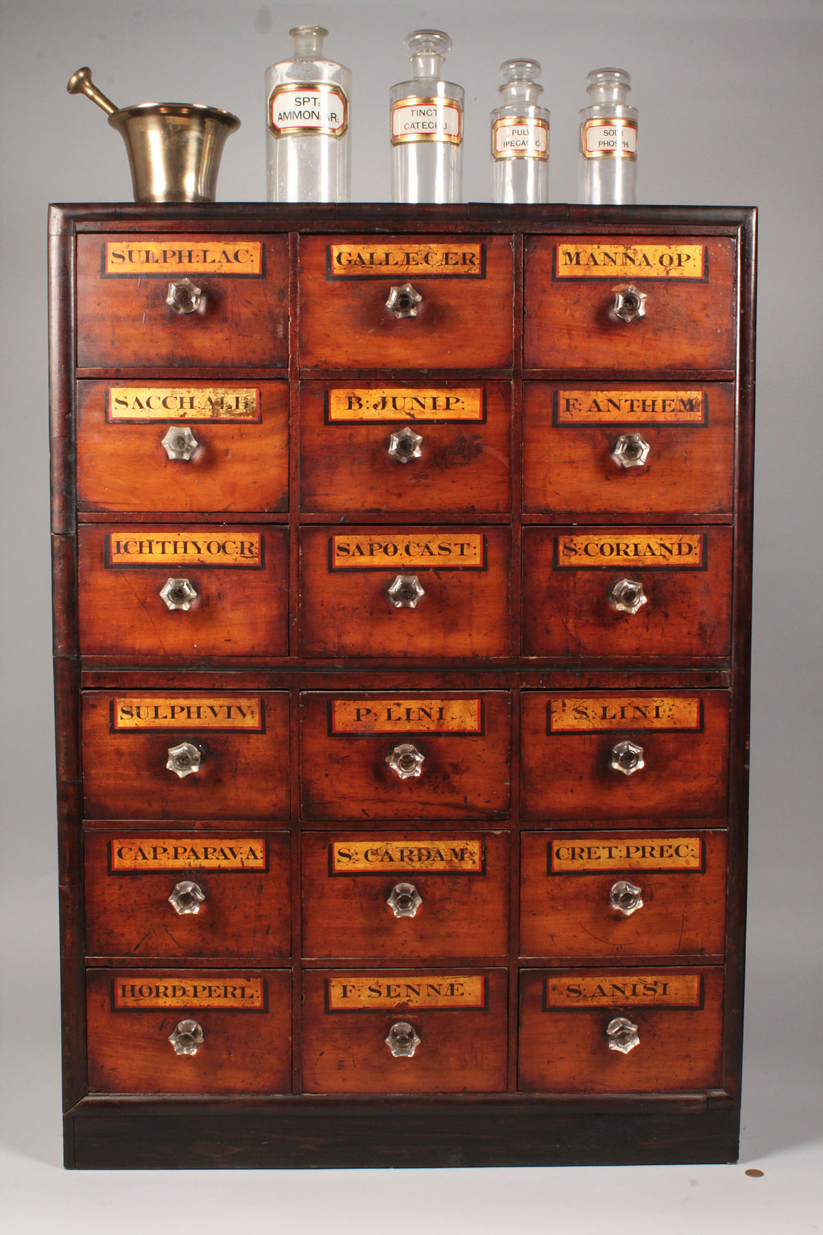 antique apothecary cabinet lot 111 apothecary cabinet w apothecary items 10611