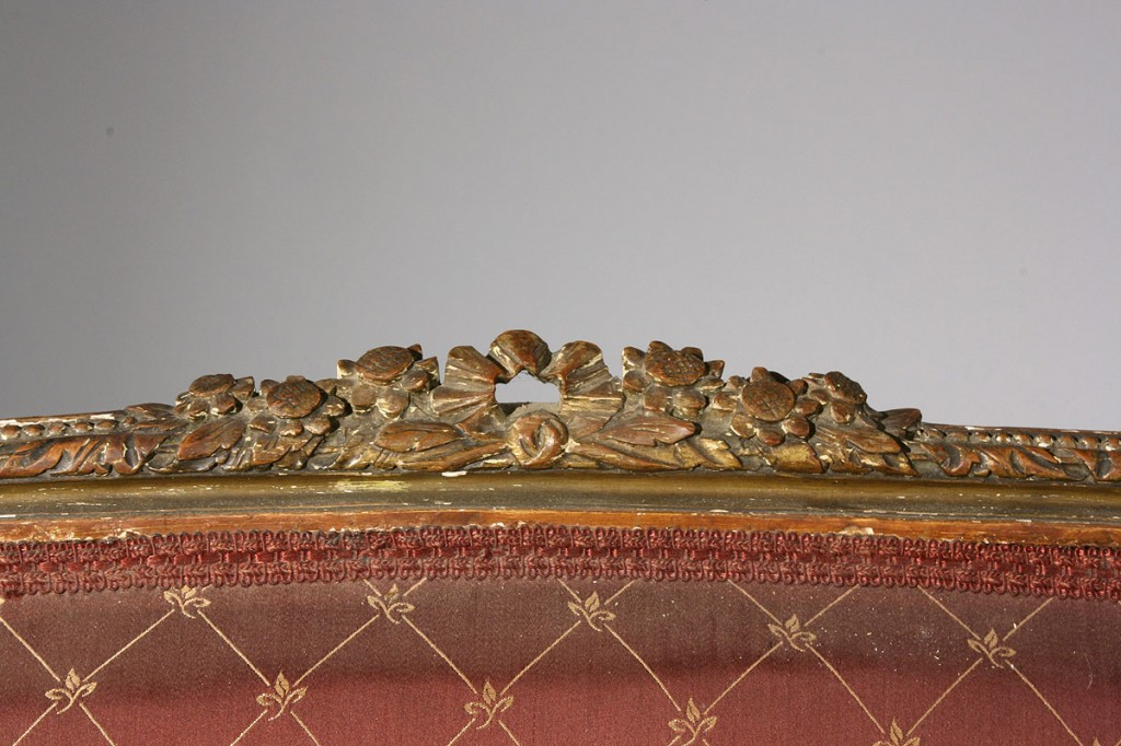 Lot 115: Louis XVI style Giltwood Loveseat