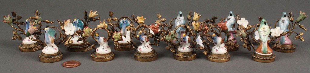Lot 116: Set of 12 French  Place Card Holders