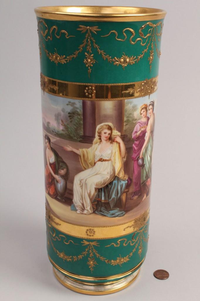 Lot 118: KPM Classical Vase w/ Painted Scenes