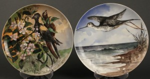 Lot 121: Two President Hayes White House Plates