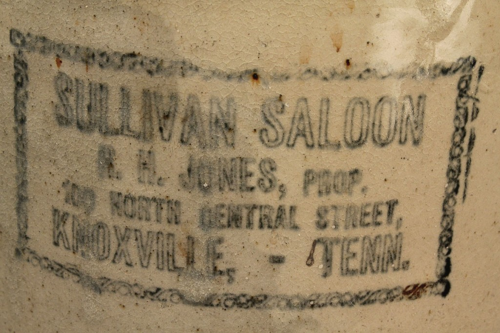 Lot 123: Sullivan Saloon Knoxville, TN Whiskey Jug
