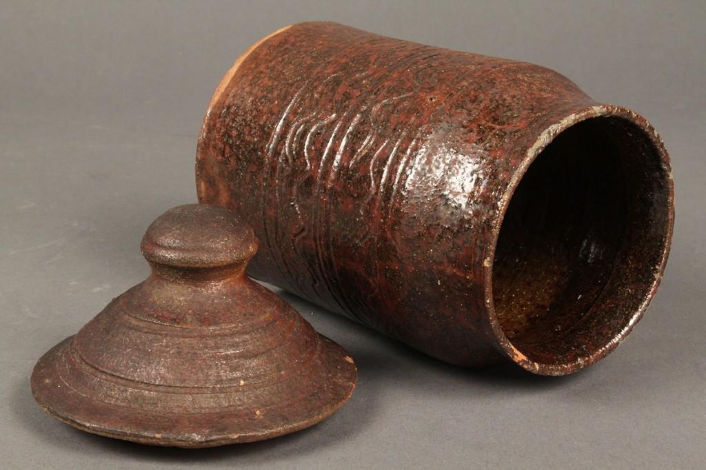 Lot 126: East TN Miniature Redware Sugar Jar