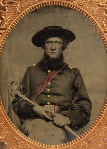Lot 129: Civil War Tin Type East TN Soldier, Sirenius Mort