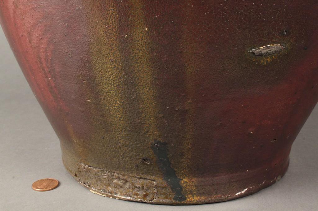 Lot 130: East TN Stoneware Jug, J. Mort